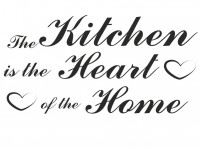 Napis na ścianę - The kitchen is ihe heart of the home