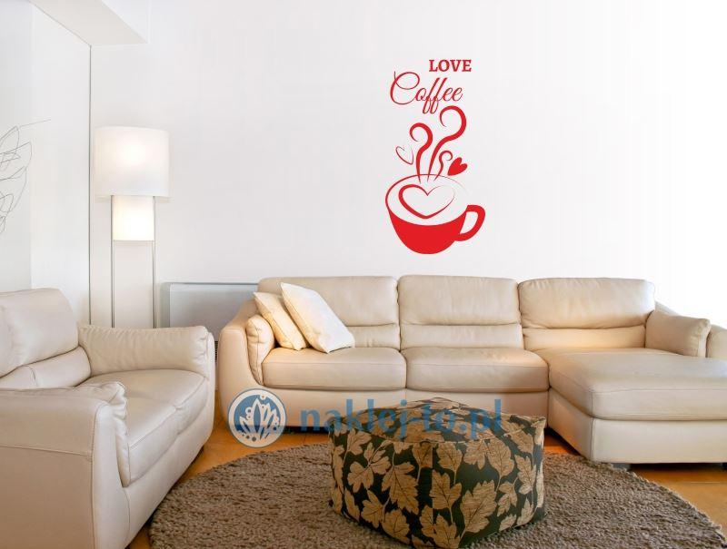 Naklejka Do Kuchni Love Coffee