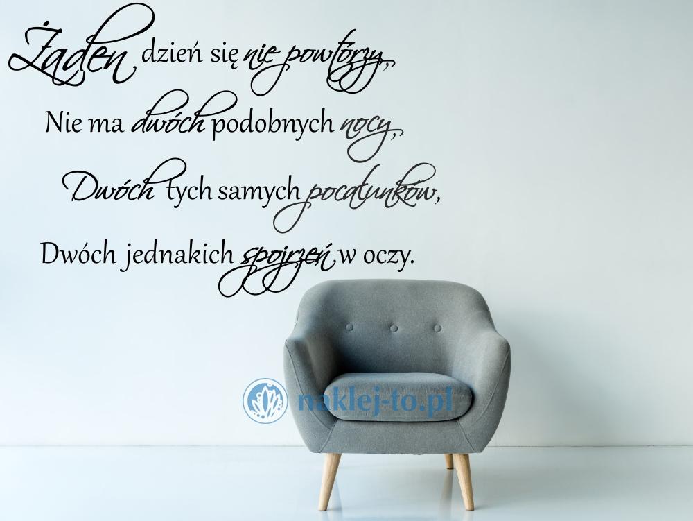 Naklejka Cytat Z Wiersza Wisławy Szymborskiej Nic Dwa Razy