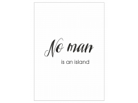 Plakat No man is an island