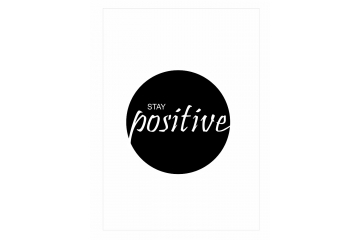 Plakat Stay positive drugie
