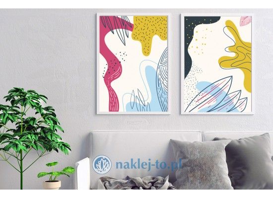 loft posters, design on the wall, plakaty natura