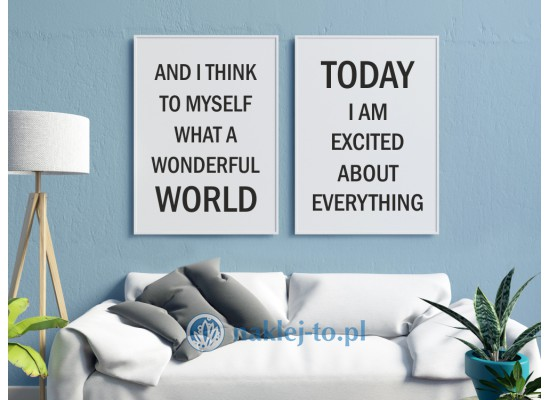 Plakat wonderful world+plakat excited